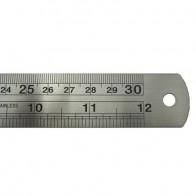 "12"" 30cm Stainless Steel Metal Ruler with Dual Markings"