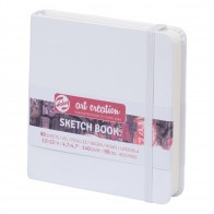 Talens sketch book white hard back drawing paper pad 12x 12cm 80 sheets 140gsm