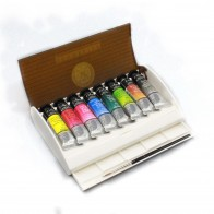 Travel Box 8 10ml Tubes & Brush Sennelier l'Aquarelle Watercolour