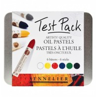 Sennelier artist oil pastels Test Pack 6 colour sticks