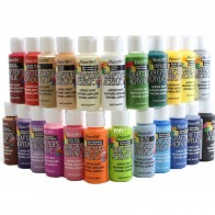 DecoArt Crafters' Acrylic Paint, Assorted Colours - Single 59ml Pots,