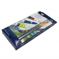Royal & Langnickel acrylic 12 pieces paint set with 2 brushes