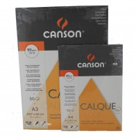Canson Calque Satine Tracing Paper Pads 50 Sheets A4 or A3