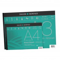 Daler Rowney Bristol Board paper pad 20 sheets 250gsm A4 or A3