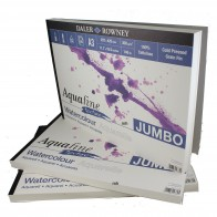 Daler Rowney AquaFine Jumbo Watercolour Paper Pads A3 or A4,  Smooth or Textured
