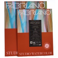 Fabriano artists Studio Watercolour paper pad Hot Press 12 sheets assorted sizes