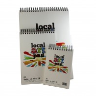 Local Art Pad Artist's Drawing Pad, UK Made Semi-Smooth Paper - 190gsm, A5, A4, or A3