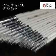 Pro Arte Series 31, Polar White Nylon All Purpose Brushes - Round Brush