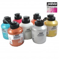 Pebeo Studio Acrylic Paint, 500ml Iridescent, Fluorescent or standard colours