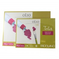"""Fabriano Tela Oil Block paper """"canvas pad"""" 10 Sheets 300gsm"""