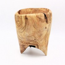 Olive wood bowl on legs