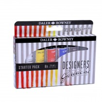 Daler Rowney Gouache designers paint start set, 6 x 15ml tubes