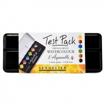 Sennelier watercolour paint test pack extra fine half pans