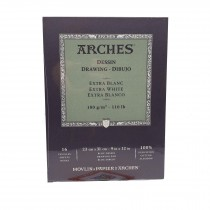 Canson Arches drawing extra white Pad 16 Sheets - 23 x31cm