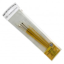 Royal & Langnickel Brush Pack White Taklon, RSET-9128