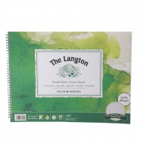 "Daler Rowney langton watercolour cold press spiral 16x12"" 300g 12sh"