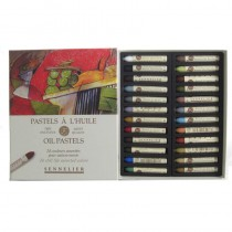 Sennelier oil pastels 24 sticks, still life assorted range