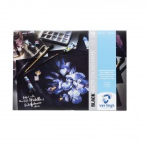 Royal Talens Van Gogh black watercolour paper pad A4 360gsm 12 sheets