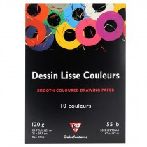 Clairefontaine A4 dessin lisse couleurs smooth colour drawing pad