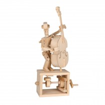 Timberkits Double Bass Player wooden model flatpack kit