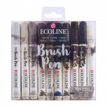 Royal Talens Ecoline Brush Pen 10 Greysl Set