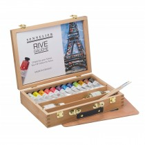 Sennelier oil paint rive gauche wooden box set