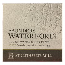 "Saunders Waterford 15"" x 11"", 4 sheets 100% cotton white CP 300gsm (140lb) watercolour paper"