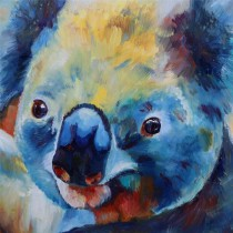 "Koala by Mark Hutchby 30"" x 30"" oil painting"