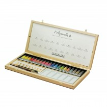 Sennelier French artists watercolour 20 x 10ml tubes wooden set