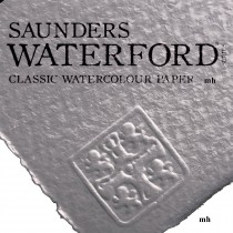 "Saunders Waterford 22"" x 15"", 2 sheets 100% cotton white CP 425gsm (200lb) watercolour paper"