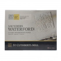 Saunders Waterford 12 x 9 watercolour paper cotton white Rough block 300gsm