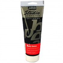 Pebeo Studio Acrylic Black Gesso 250ml