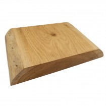 Wooden chopping board two live edge thick solid Oak block 40cm x 30cm x 5cm