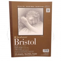 "Strathmore 400 Bristol smooth paper pad 11x14"" 15 sheets"