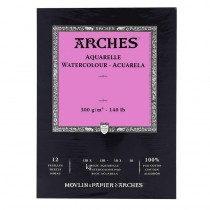 canson Arches Watercolour Hot pressed Paper Pad