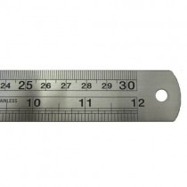 30 cm stainless steel ruler with centimetres and inches