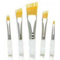 Royal & Langnickel talkon paint brush Aqualon Wisp 5pc. Assorted angular Set