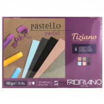 Fabriano Tiziano 6 Flecked Colours Pastel Paper 30 Sheets 160gsm A4