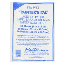 Masterson Sta-Wet Stay Wet 'Painters Pal' Acrylic Paper  30 Sheet 9x12