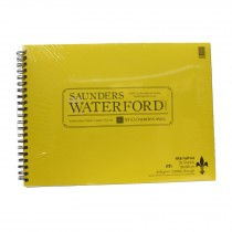 "RK Burts fat pad Saunders Waterford 425 GSM 11"" x 15 inch rough watercolour paper pad"