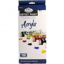 Royal & Langnickel Artist Paint 12 Pc Set - Acrylic