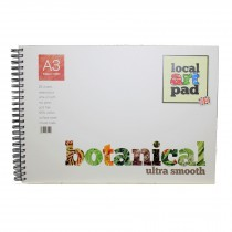 A3 artists botanical hot press smooth pad