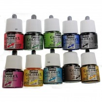 Pebeo Colorex ink assorted pot