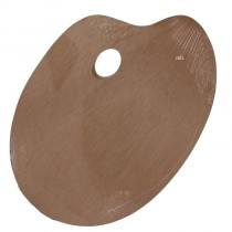 Plywood Oval kidney paint with thumb hole