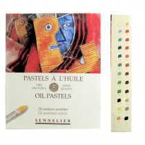 24 Assorted Sennelier Oil Pastels