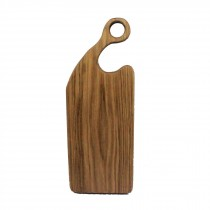Oak wood rustic board with curved loop handcrafted
