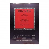 Canson Arches oil paper pad cold pressed 12 Sheets - 31x41cm
