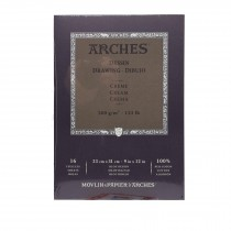 Canson Arches drawing cream Pad 16 Sheets - 23 x31cm