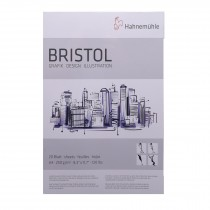 Hahnemuhler Bristol paper pad smooth white A4 20 sheets 250gsm