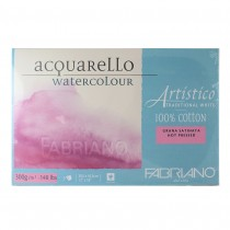 Fabriano Artistico Acquarello Traditional White 100% Cotton Hot Pressed 300gsm Assorted sizes